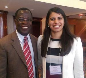 Photo of Dr. Joseph Oppong (Left), and Garima Bajwa (Right)
